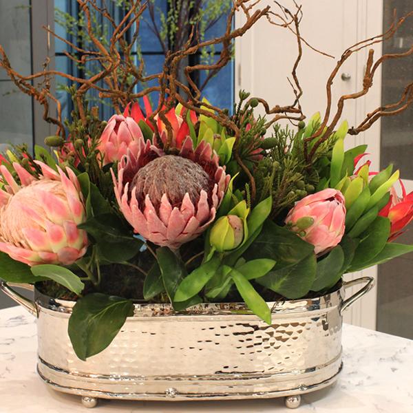 Mixed Protea Silk Flower Arrangement
